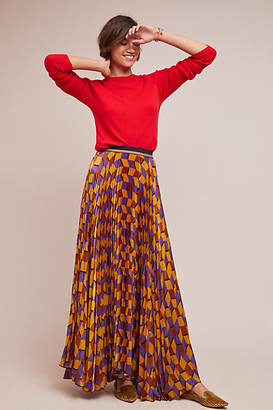 Beatrice. B Voisin Pleated Maxi Skirt