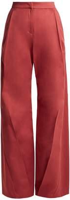 Palmer Harding PALMER/HARDING High-rise wide-leg cotton trousers