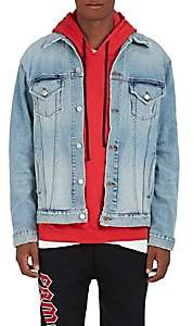 Adaptation Men's Embroidered Denim Jacket-Blue Size M