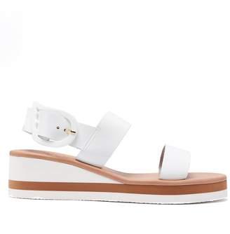 Ancient Greek Sandals Clio Rainbow wedge-heel patent-leather sandals