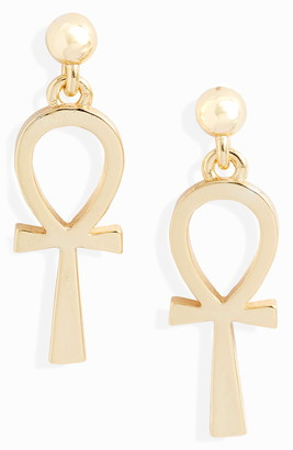 Sterling Forever Ankh Drop Earrings