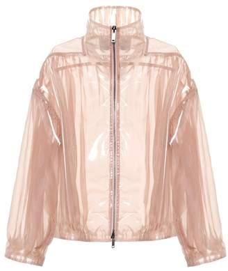 Valentino Coated silk bomber jacket
