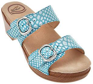 Dansko Leather Slide Sandals w/ Double Adj.Straps - Sophie