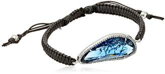 Tai Braided Cord with Glass and Cubic Zirconia Bracelet