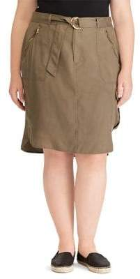 Lauren Ralph Lauren Plus Belted Cargo Skirt