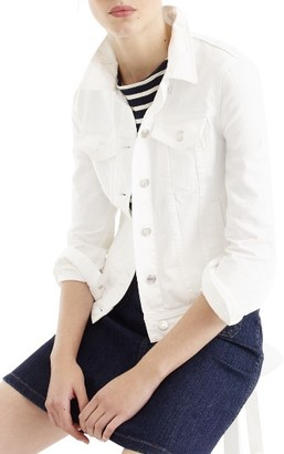 Women's J.crew White Denim Jacket $98 thestylecure.com