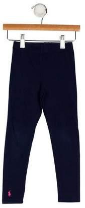 Ralph Lauren Girls' Skinny Embroidered Leggings