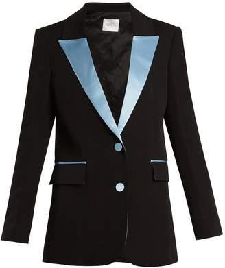 RACIL Tokyo single-breasted contrast-lapel wool blazer