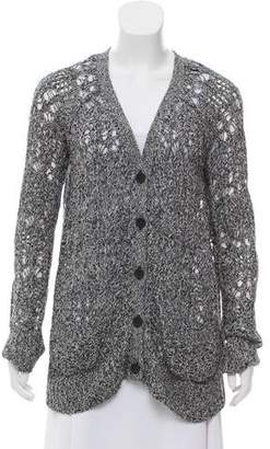 Elizabeth and James Button-Up Knit Cardigan