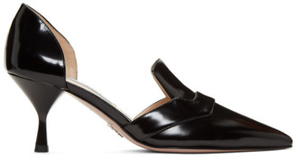 Prada Black DOrsay Heels