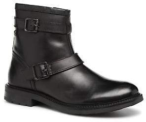 Base London Men's ORTIZ Zip-up Ankle Boots in Black
