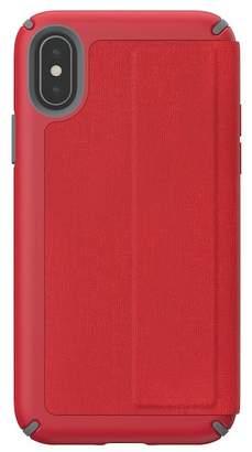 Speck Red\u002FGrey iPhone XS\u002FX Presidio Folio Case
