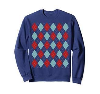 Funny Argyle Christmas Sweater Knitwear Men Women New Year