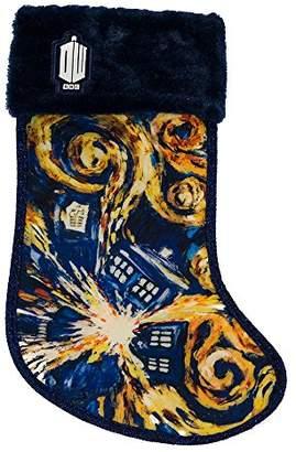 Kurt Adler Doctor Who Tardis Starry Night Stocking
