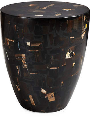 "Mosaic Drum 14"" Side Table - Black Multi - Phillips Collection"