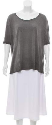 Raquel Allegra Short Sleeve Scoop Neck Top