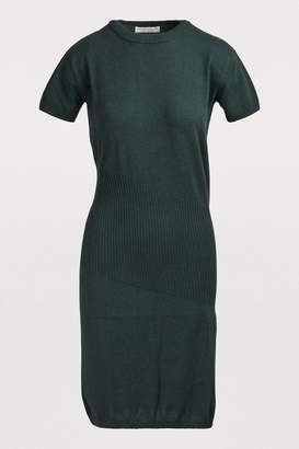 Alexandra Golovanoff China 3/4 sleeved midi dress