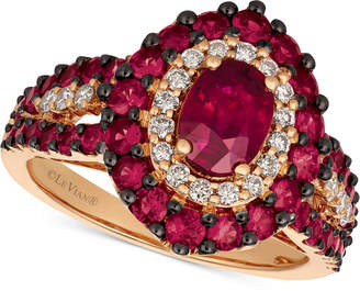 LeVian Le Vian Certified Passion Ruby (2 ct. t.w.) & Diamond (1/4 ct. t.w.) Ring in 14k Rose Gold