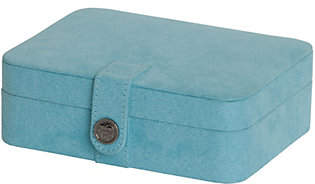 Mele Giana Plush Fabric Jewelry Box withLift Out Tray