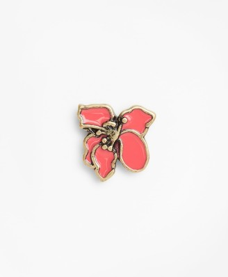 Brooks Brothers Hibiscus Lapel Pin