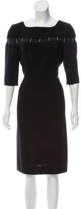 Thierry Mugler Embellished Long Sleeve Dress