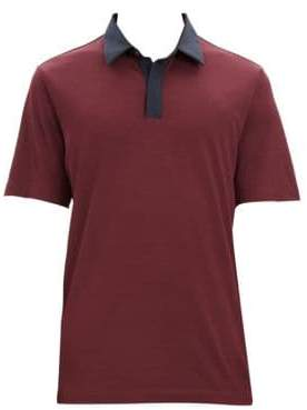 Theory Incisive Silk-Blend Contrast Polo
