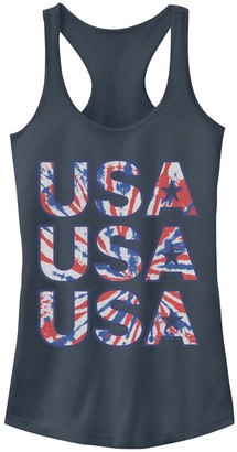 Non Licensed Juniors' USA Tie Dye Tank