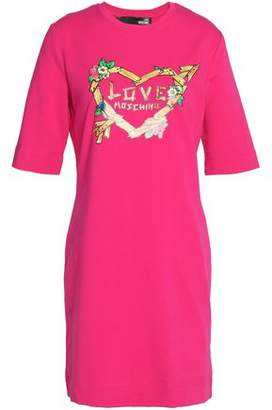 Love Moschino Printed Stretch Cotton-Jersey Mini Dress