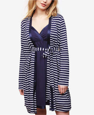Motherhood Maternity Nursing Nightgown And Robe $29.98 thestylecure.com