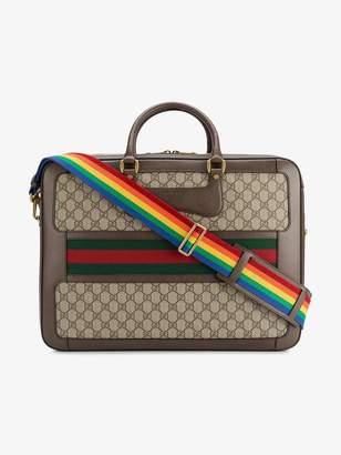 Gucci Leather Rainbow Strap GG Briefcase