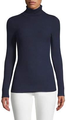 Three Dots Women's Ribbed Turtleneck Sweater