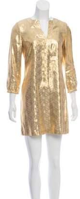 Tory Burch Silk-Blend Mini Dress