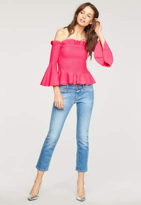Milly MillyMilly Exclusive Pintuck Off The Shoulder Top