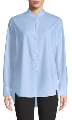 Vince Oversized Cotton & Silk Shirt