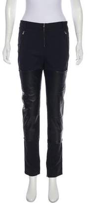 3.1 Phillip Lim Mid-Rise Leather Accented Pants