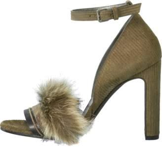 Brunello Cucinelli Leather Cord Sandal