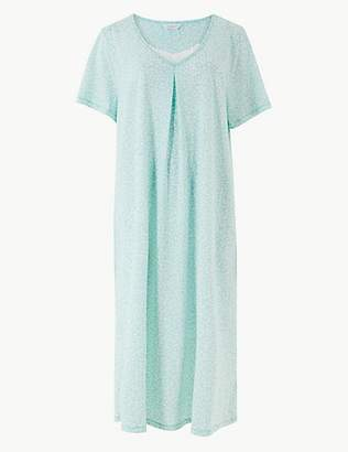 M S Collection Cotton Rich Printed Nightdress f098b2066
