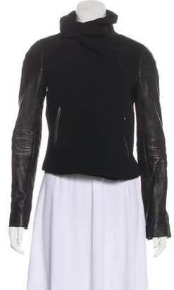 Diane von Furstenberg Lulu Leather-Accented Jacket