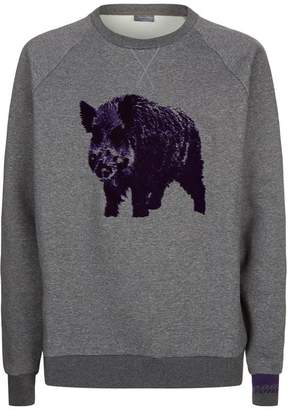 Lanvin Embroidered Boar Sweatshirt