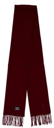 Saint Laurent Fringe Wool Scarf
