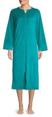 Miss Elaine Long-Sleeve Velvet Robe