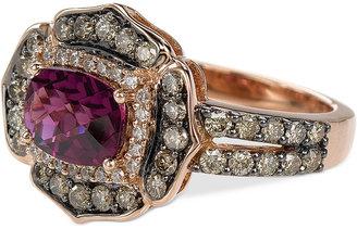 Le Vian Chocolatier Raspberry Rhodolite Garnet (1-1/2 ct. t.w.) and Diamond (9/10 ct. t.w.) Ring in 14k Rose Gold $4,345 thestylecure.com