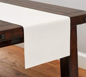 Pottery Barn Wheaton Stripe Table Runner- Flax