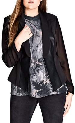City Chic Sharp & Sheer Jacket