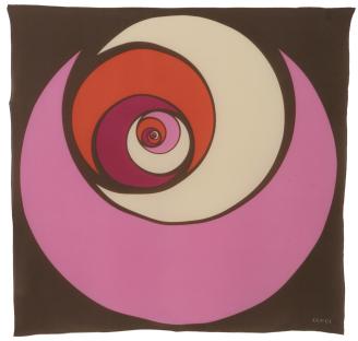 Gucci pink and brown 'Letizia' 34'' square silk scarf