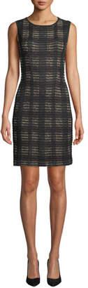 Misook Sleeveless Plaid Knit Dress