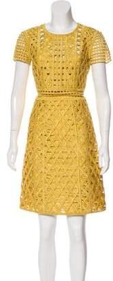 Burberry 2016 Metallic Shift Dress