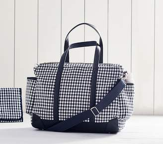 Pottery Barn Kids Classic Diaper Bag, Navy Gingham