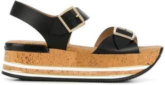 Hogan platform buckle sandals