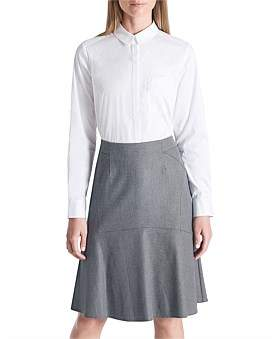 David Lawrence Pocket Detail White Shirt
